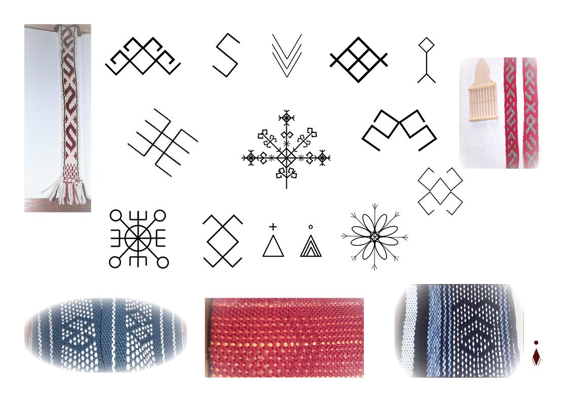 Plongez au coeur de la mythologie nordique en retrouvant les symboles cachés dans mes tissages!