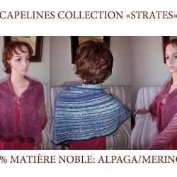 NOUVEAU: capelines matière noble!