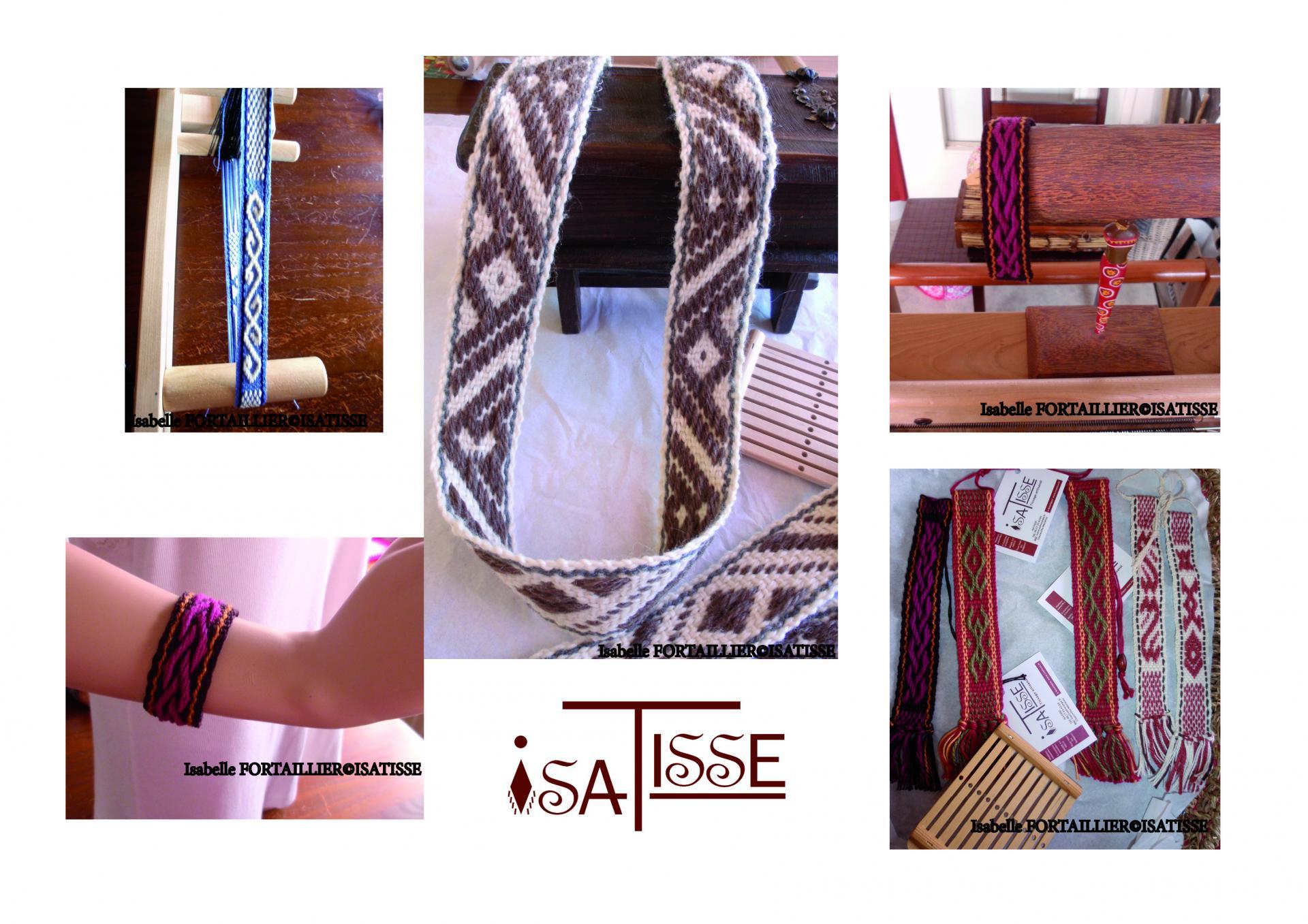 Bracelets, ceintures, marque-page