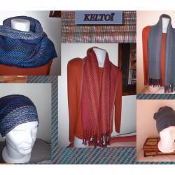 Echarpes pour hommes en sergé laine fine mérinos