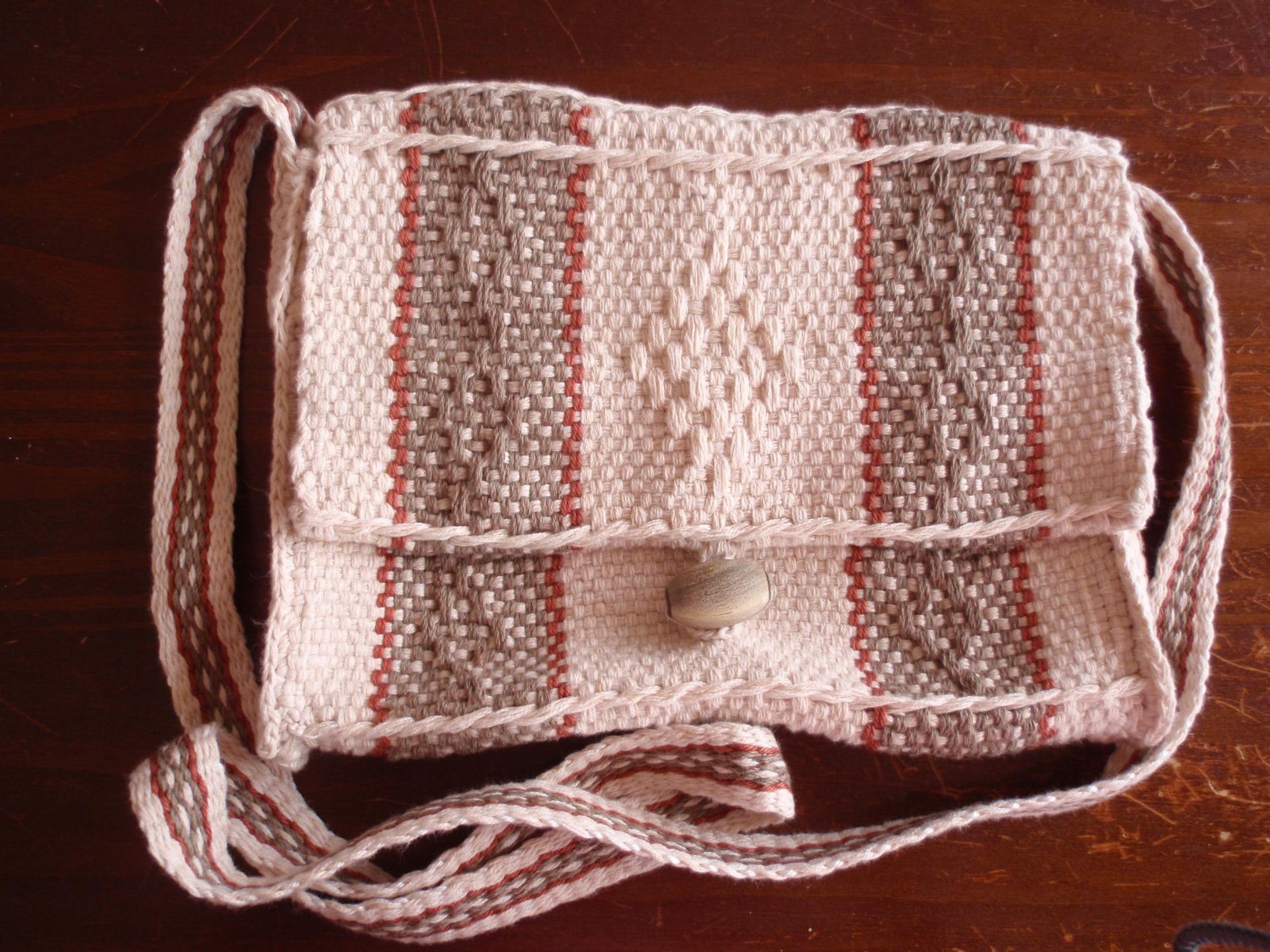 Sac à motifs anciens en coton/lin