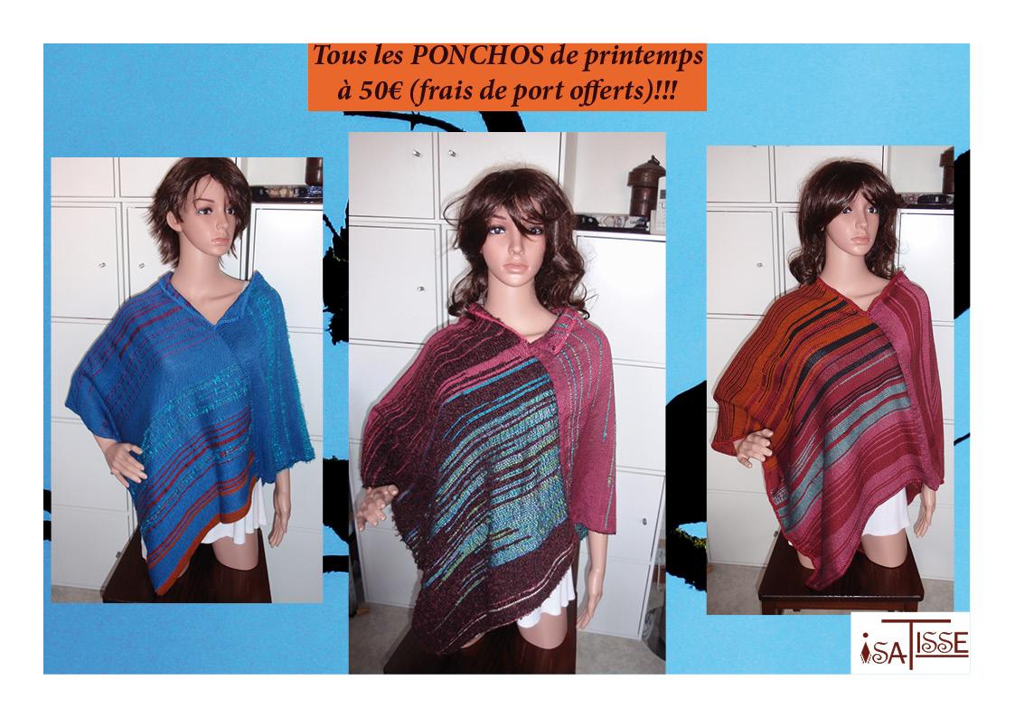 Les ponchos sans laine en promo!!!