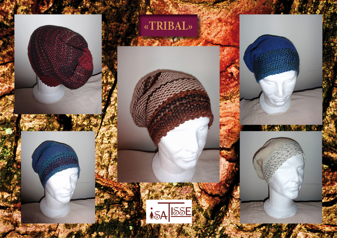 Collection TRIBAL: bonnets en laine vierge!