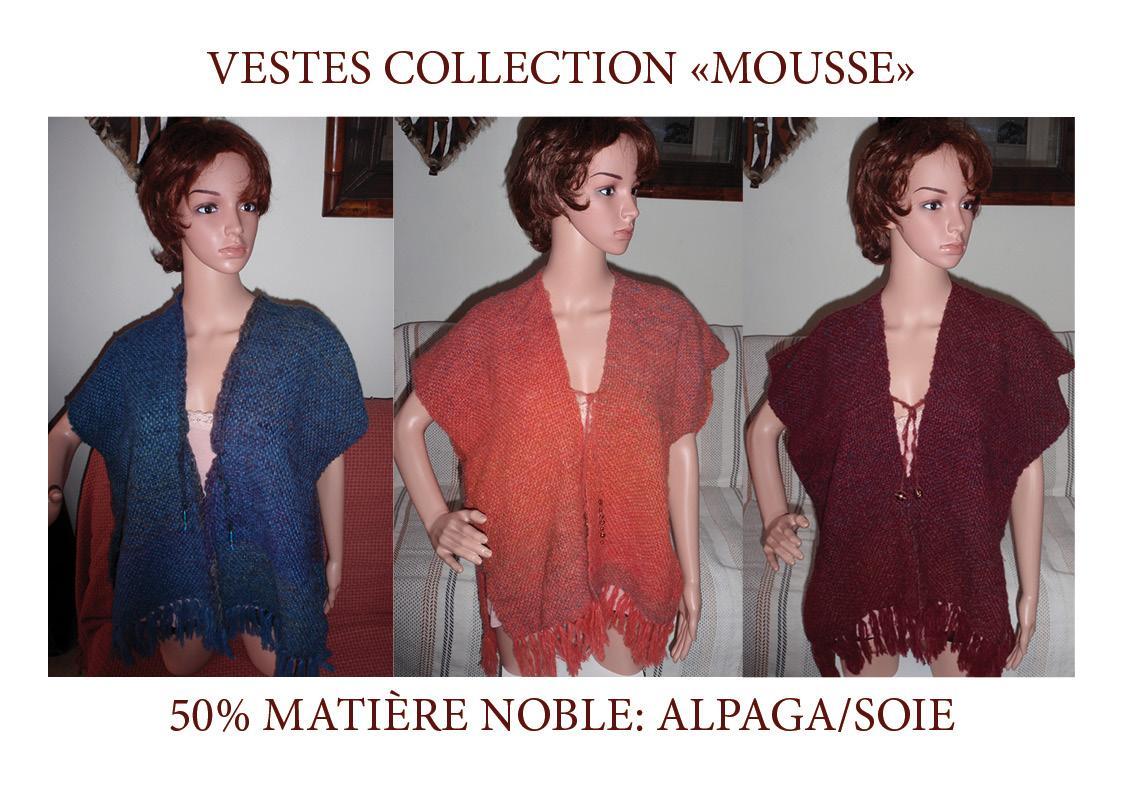 Vestes extra douces et légères en 50% alpaga/soie!